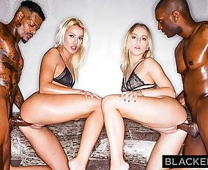 BLACKEDRAW Two Blondes Fuck Two Croppings BBCs After A Night At The Club