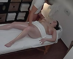 Hot rubdown turns to fingering spycam