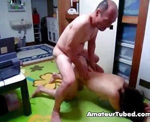 Japanese mummy doggyfucking