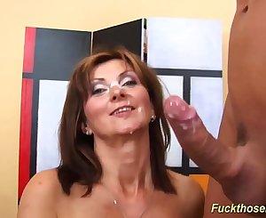 redhead mom rough doggystyle fucked