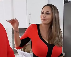 Stepmom of wide hips fucks her son for the very first time