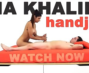 MIA KHALIFA - Arab Queen Performs Expert Level Handjob On Peter Green