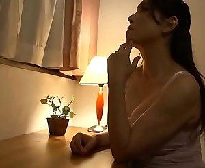 Japanese mom witnessed my hard dick