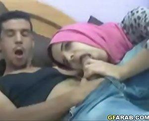 Arab Teen Sucks Big Shaft