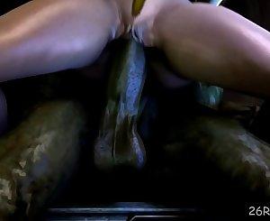 samus aran fucked by a monster shaft mutant