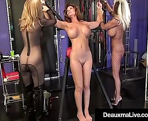 Deauxma Encaged & Pleasured By Sally Dangelo & Nina Hartley!