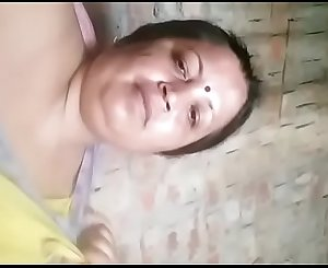 Indian horny aunty sucking boobs