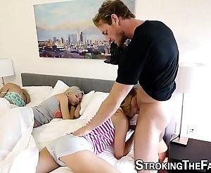 Teenage stepdaughter filmed