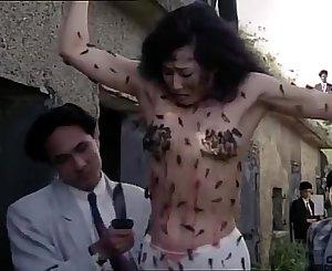 Asian girl torturing