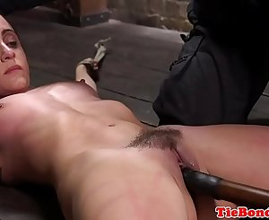 Restrain bondage enslaved whipped and dildoed