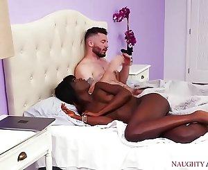 Black girl, white guy, HOT sex! Wild America