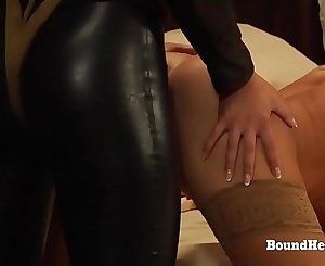 The Education of Erica: Lesbian Slaves On Their Knees Taking Strapon