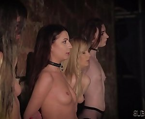 4 victims punished and humiliated by master he fucks and slaps them
